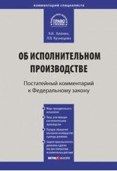 Комментарий к Федеральному закону от 2 октября 2007г.№229-ФЗ «Об исполнительном производстве» (постатейный)